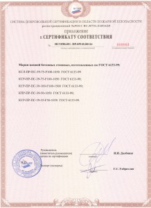 приложение к пожарному сертификату